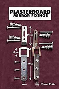 Heavy Duty Mirror Fixings Hooks Straps Fittings For