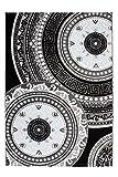 Lalee 347229482 Klassischer Teppich Muster Klassik Kreise Glitzer Größe 80 x 150 cm, schwarz