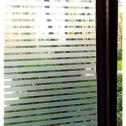 Concus-T Estática No Se Adhiere Adhesivo Vinilo Premium Decorativas Rayas Esmeriladas Ventana Ventana De Privacidad 90cmx200cm