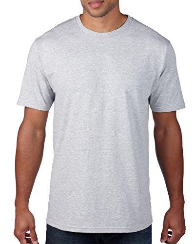 anvil Herren Organic Fashion Basic T-Shirt / 490 XL,Grau - Erika-Grau
