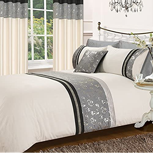 quilt grey duvet minogue cushion summer kylie diamante bedding cover saturn slate bed itm designer silver or throw spring