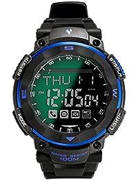 montre de sport montre Homme Digital Intelligent Smartwatch Bluetooth 4.3 montre 100 waterproof meters Compatible avec Android 4.3 ou une version ultérieure ou une version ultérieure et IOS Smartphones YONGS