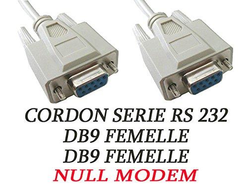 KALEA-INFORMATIQUE Serielles Kabel RS232 / Monitorkabel, weiblich auf weiblich, Stecker DB9, 1,5 m - Null Modem - Kabel-elektronik-serielles Kabel