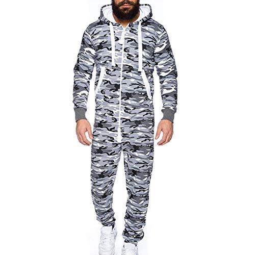 JiaMeng Mono Unisex Prenda de una Pieza Sin pie Pijama Traje Blusa Sudadera Abrigo de Traje de Invierno...