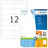 Herma 4623 Universal Etiketten (96,5 x 42,3 mm) weiß, 2.400 Klebeetiketten, 200 Blatt Premium DIN A4 Papier matt, bedruckbar, selbstklebend