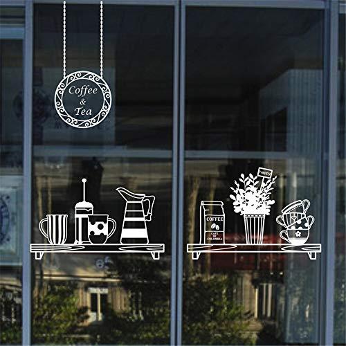 dtattoo Schlafzimmer Milch Tee Coffee Shop Cafés Eis Brot Kuchen Küche Wandkunst Aufkleber Aufkleber für Café Coffee Shop ()