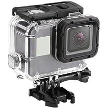 Shoot® 45m resistente al agua bajo el agua la carcasa Case Cover Shell con berühr Bare Back Door para Gopro Hero 5Cámara de acción