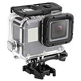 Shoot® 45m Wasserdicht Unterwassergehäuse Case Cover Shell mit Berührbare Backdoor für GoPro Hero 7(Nur Black) Hero (2018) GoPro Hero 6 Hero 5 Action Kamera