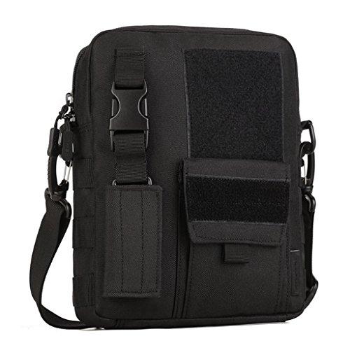 cinmaul Versione Verticale da uomo Borsa a tracolla Tempo libero pacchetto Outdoor fan militare tattico borsa pendolari borsa da viaggio, Uomo, Desert Camouflage Black