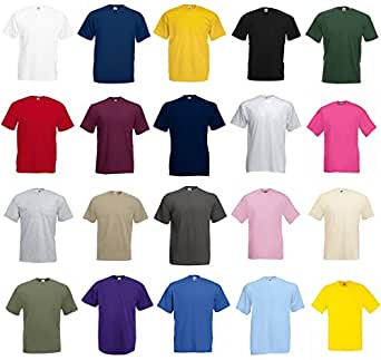 Fruit of the Loom Value Weight T-Shirt - RANDOM - S PACK OF 5