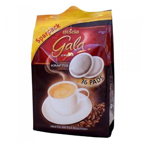 Eduscho Gala Crema, Kräftig, 36 Kaffeepads, 252g Packung