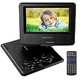 DBPOWER 7.5' Lecteur DVD Portable avec écran orientable, compatibilité...