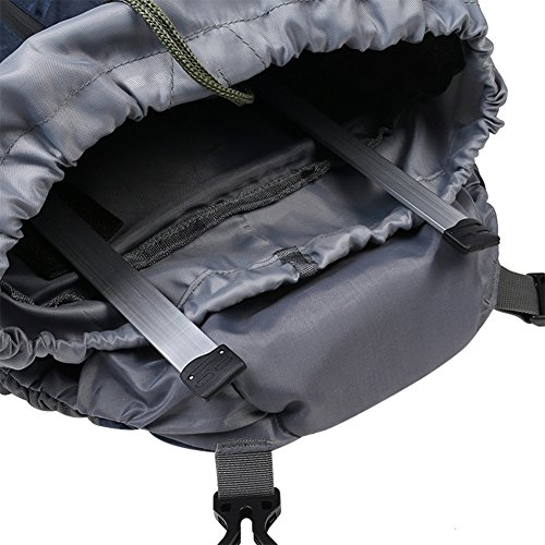 HLX 65L Zaino da Trekking Zaino da Trekking Zaino da viaggio zaino con copertura antipioggia per zaino, nero, 75 * 35 * 24cm Orange