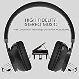 from OMORC Upgraded Version Omorc Bluetooth Headphones, Wireless, Foldable Bluetooth Headset Over The Head Wireless/Wired Stereo Headphones Built In Microphone For Music Streaming For Iphone Model LV-20170912-VD