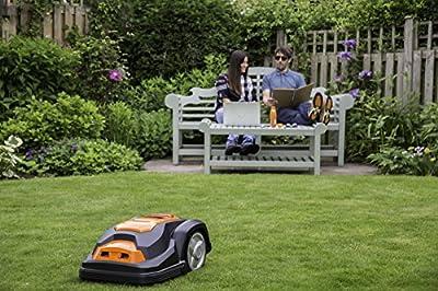 YardForce SA500ECO Mähroboter – Selbstfahrender Rasenmäher Roboter mit Begrenzungsdraht & Diebstahlschutz – Akku Rasenroboter für bis zu 500m² Rasen & 50% Steigung