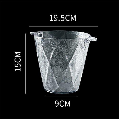 FTC Ice Bucket Acryleis-Eimer-Plastikbier-Fass Kleiner Eis-Eimer-Eis-Würfel-Fass-Fass Transparente Champagner-Eimer KTV-Bar-Ausrüstung, Diamant - Edelstahl-restaurant-ausrüstung
