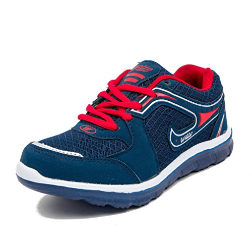 Asian Shoes Kids Boy's Navy Blue Red Running Shoes -4 Uk