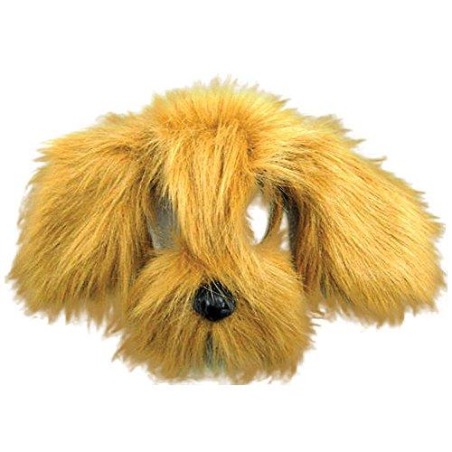 Bristol Novelty em357Shaggy Hund Maske mit Sound auf Haarreif, braun, one ()