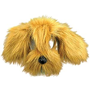 Plush Animal Mask with Sound - Brown Shaggy Dog (máscara/careta)