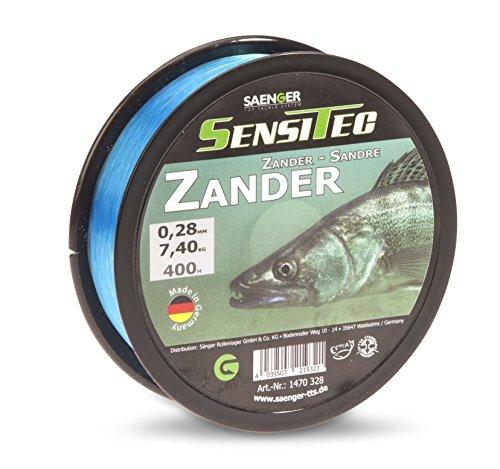 SENSITEC Zander - Farbe: tarn blau - Ø 0,30mm/8,20kg/400m NEW 2018 Angelschnur monofil Sänger