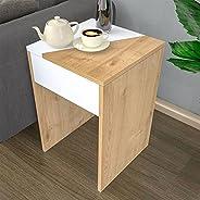 Bravo Gold Side Table, Beige - 60 cm x 40 cm x 40 cm
