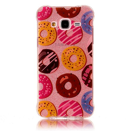 Custodia iPhone 6 Plus / 6S Plus, WindTeco Bling Bling Ultra Sottile Custodia Diamanti Glitter Silicone Gel Protettiva Case per Apple iPhone 6 Plus / 6S Plus Donuts