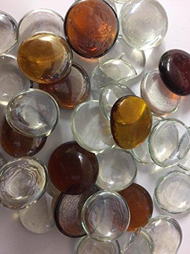 Deko-Glassteine, braun und transparent, fürAquarien, Blumenvase, Kerzen-Dekoration, zu Hochzeit oder Weihnachten, zum Basteln