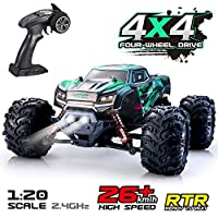VATOS Remote Control Car RC Car 1:20 Scale High Speed Off-Road Vehicle 26km/h 4WD 2.4GHz RC Monster Truck Electric Racing Car RC Buggy Truck Crawler Hobby Car Toy for Adults and Kids