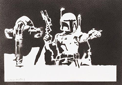 Boba Fett Slave I STAR WARS Handmade Street Art - Artwork - Poster