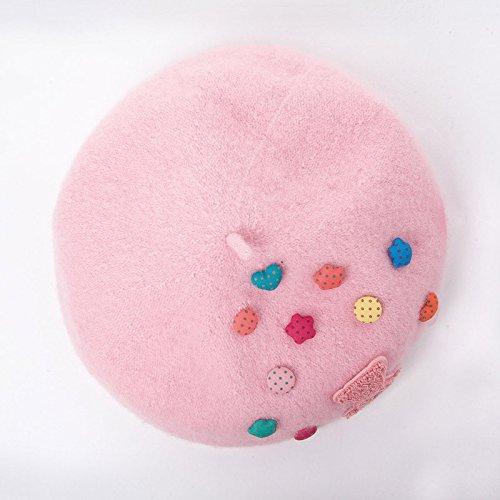 LLZTYM Chapeau/Femelle/Béret/Couleur/Artiste/Tête/Cadeau Pink D