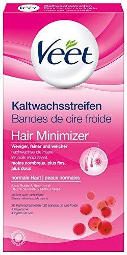 Veet Kaltwachsstreifen Easy-Gelwax Technology Beine & Körper für normale Haut, 1er Pack (1 x 20 Stück)