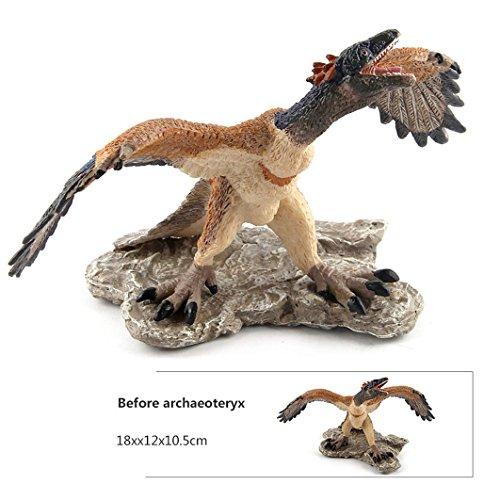 Dearmy Realistisch Schauen Lebensecht Uralt Vogel Monster Dinosaurier Archaeopteryx Oviraptor Zahlen Spielzeuge Jumbo Modelle Vinyl Lebhaft Sammlung Kinder Lernen & Lehrreich Entwicklung Borthday Weihnachten Geschenk (Archaeopteryx) -