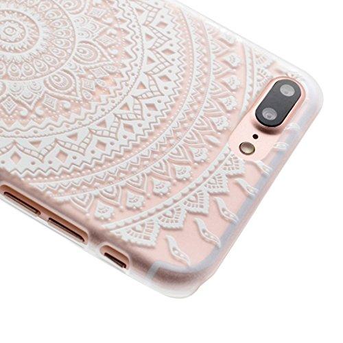 Mesh Flower Pattern Transparente PC Schutzhülle für iPhone 7 Plus by diebelleu ( SKU : Ip7p1456k ) Ip7p1456j