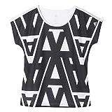 adidas Mädchen T-Shirt YG W TY AOP Tee, Weiβ/Schwarz, 152, 4055344502600