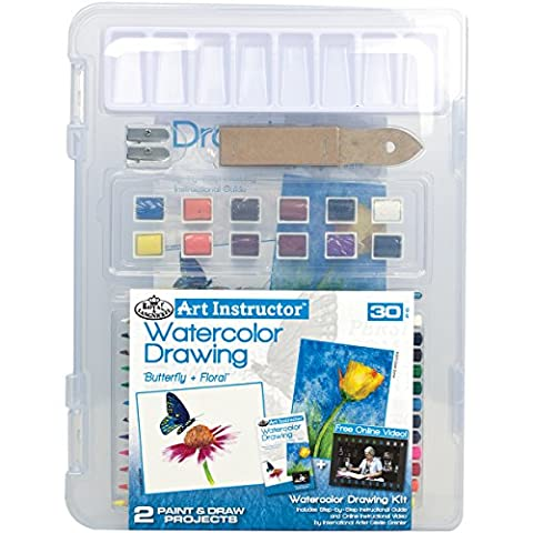 Art Instructor Watercolor Pencil Drawing Clearview Art Set-Small - 30Pc