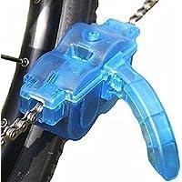 MMOBIEL Aparato de limpieza (limpiador) para cadenas de bicicletas con cepillos rotatorios. Sirve para todo tipo de cadenas, engranes, etc. Accesorio para limpieza y mantenimiento para bicicletas domésticas, de ciclismo, de carretera, de carreras, de montaña MTB, etc.