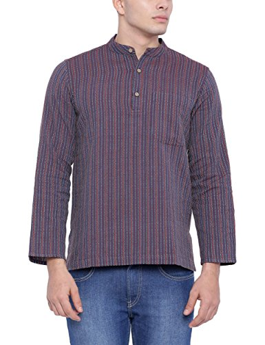 Fabindia Men's Waist-long Cotton Kurta