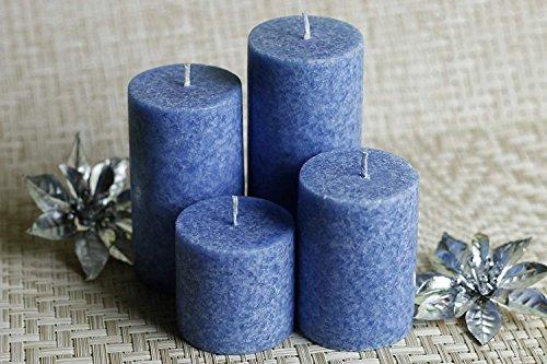 Aroma salvezza Sea Breeze profumate Candele di Cera di Marmo (21,5 cm x 12,5 cm x 5 cm, Blu, Set di 4) -Sea Breez