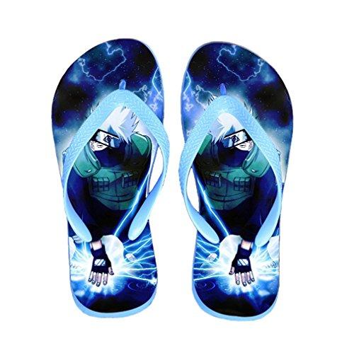 Bromeo Naruto Anime Unisex Flip Flops Zehentrenner Flip Pantoffeln 307