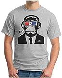 OM3 Monkey Full HD 3D - T - Shirt Ape Affe Hdtv Consumer