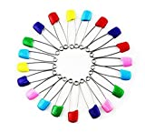 Wicemoon Lot de 10épingles à nourrice colorées et sécurisées Acier inoxydable