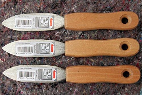 3 Stück Kittmesser 95 mm Klinge zum Verfugen von Fenstern mit Kittmassen