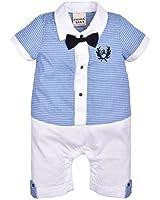 ZOEREA 1 pezzo neonati bambini gentleman infantile tutine complessivi Estate abiti di cotone a righe manica corta pagliaccetto battesimo abito da sposa del bambino