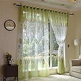 Yunt - Tenda 100x 250cm, verde, con occhielli, per soggiorno/camera/balcone/sala da pranzo, 1pezzo