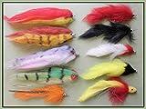 Troutflies UK Lures Hecht Angeln Fliegen, 10Stück, Mixed Patterns, Größe 1/0& 2/0, Pike Fly Angeln