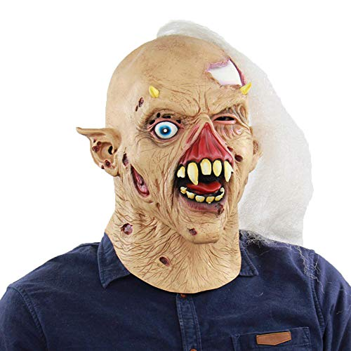 LXIANGP Latex Maske Halloween Kostüm Ball lustige Horror Geist lustige Latex alte - Alte Kostüm Geist