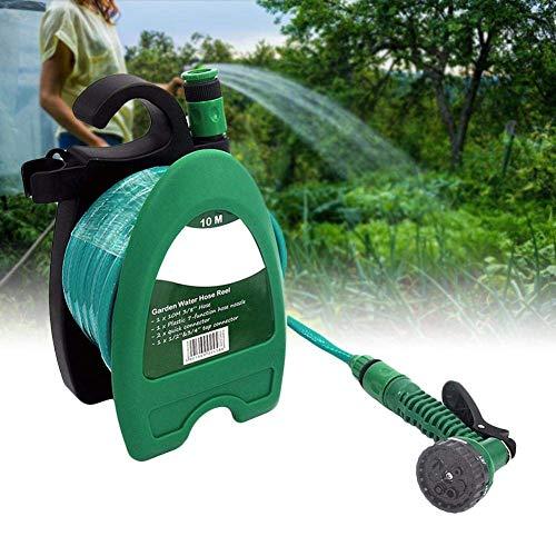 KHTO Mini 10 mt Schlauch Wasser Düse für Pet Garden Wasserschlauchtrommel Tragbare Auto waschen Kit Wand Montierbar Schlauchtrommel -