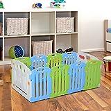 Homcom - Clôture modulaire 10 pièces avec passerelle de sécurité pour enfants avec certificat EN71