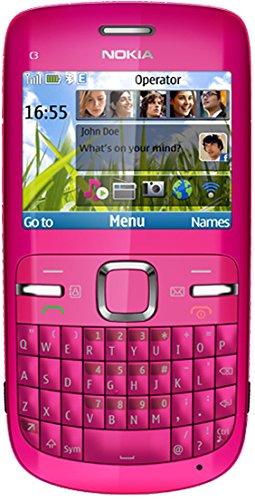 "Nokia C3-00 2.4"" 114g Pink - Mobile Phones (Bar, Single SIM, 6.1 cm (2.4""), 2 MP, 1320 mAh, Pink)"