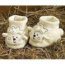 Natures Purest Sleepy Sheepy cute baby Booties. Size 0-6 Months